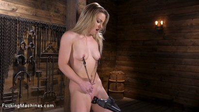 Photo number 4 from Brand New Blonde in Bondage and Machine Fucked shot for Fucking Machines on Kink.com. Featuring Kate Kennedy in hardcore BDSM & Fetish porn.