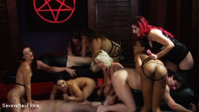 Photo Number 13 From Satanic Femdom Orgy Shot For Severe Sex Films On Kink Com