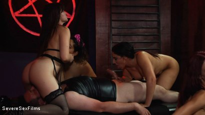 Photo Number 17 From Satanic Femdom Orgy Shot For Severe Sex Films On Kink Com