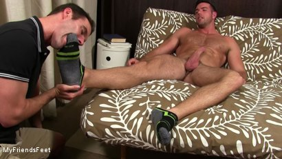 Photo number 6 from Alex Mecum Foot Serviced By Cameron Kincade shot for My Friends Feet on Kink.com. Featuring Alex Mecum and Cameron Kincade in hardcore BDSM & Fetish porn.