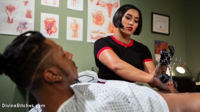 Photo number 1 from Doctor's Orders: Medical Mistress Mia Little Dominates New Patient shot for Divine Bitches on Kink.com. Featuring Mia Little and Styx in hardcore BDSM & Fetish porn.