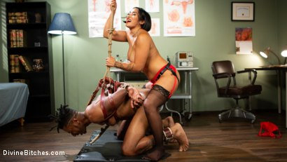 Photo number 6 from Doctor's Orders: Medical Mistress Mia Little Dominates New Patient shot for Divine Bitches on Kink.com. Featuring Mia Little and Styx in hardcore BDSM & Fetish porn.