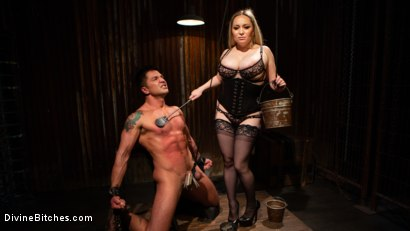 Photo number 13 from A Dom's Domme: Divine Bitch Aiden Starr dominates beefcake male top shot for Divine Bitches on Kink.com. Featuring Aiden Starr and Dominic Pacifico in hardcore BDSM & Fetish porn.