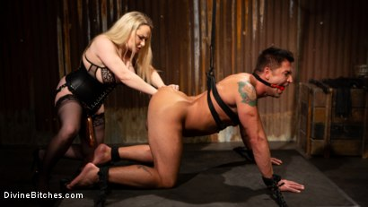 Photo number 18 from A Dom's Domme: Divine Bitch Aiden Starr dominates beefcake male top shot for Divine Bitches on Kink.com. Featuring Aiden Starr and Dominic Pacifico in hardcore BDSM & Fetish porn.