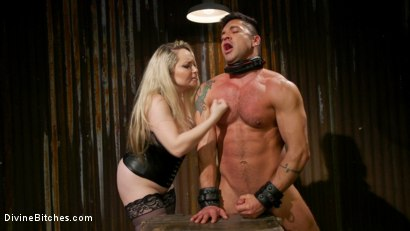 Photo number 8 from A Dom's Domme: Divine Bitch Aiden Starr dominates beefcake male top shot for Divine Bitches on Kink.com. Featuring Aiden Starr and Dominic Pacifico in hardcore BDSM & Fetish porn.