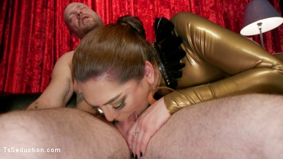 Photo number 2 from Kendra Sinclaire's Holographic Love Nest shot for TS Seduction on Kink.com. Featuring Kendra Sinclaire and Mike Panic in hardcore BDSM & Fetish porn.