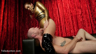 Photo number 13 from Kendra Sinclaire's Holographic Love Nest shot for TS Seduction on Kink.com. Featuring Kendra Sinclaire and Mike Panic in hardcore BDSM & Fetish porn.