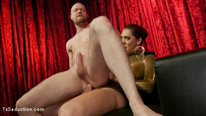 Photo number 19 from Kendra Sinclaire's Holographic Love Nest shot for TS Seduction on Kink.com. Featuring Kendra Sinclaire and Mike Panic in hardcore BDSM & Fetish porn.