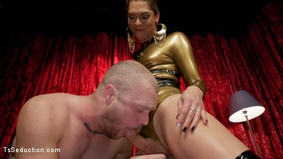 Photo number 6 from Kendra Sinclaire's Holographic Love Nest shot for TS Seduction on Kink.com. Featuring Kendra Sinclaire and Mike Panic in hardcore BDSM & Fetish porn.