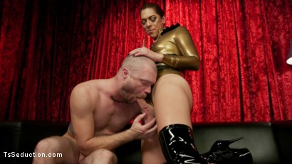 Photo number 7 from Kendra Sinclaire's Holographic Love Nest shot for TS Seduction on Kink.com. Featuring Kendra Sinclaire and Mike Panic in hardcore BDSM & Fetish porn.