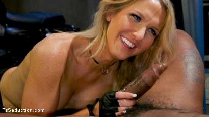 Photo number 5 from Slag Angels on Wheels: Episode 2 shot for TS Seduction on Kink.com. Featuring Kayleigh Coxx and Buck Wright in hardcore BDSM & Fetish porn.