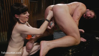 Photo number 14 from Slag Angels on Wheels: Episode One shot for TS Seduction on Kink.com. Featuring Natalie Mars  and Colby Jansen in hardcore BDSM & Fetish porn.