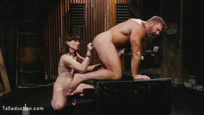 Photo number 13 from Slag Angels on Wheels: Episode One shot for TS Seduction on Kink.com. Featuring Natalie Mars  and Colby Jansen in hardcore BDSM & Fetish porn.