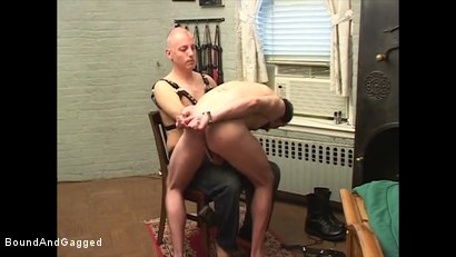 Photo number 6 from Boysitting: Spanked and Pinned shot for Bound And Gagged on Kink.com. Featuring Oskar and Sean Patrick in hardcore BDSM & Fetish porn.