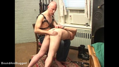 Photo number 9 from Boysitting: Spanked and Pinned shot for Bound And Gagged on Kink.com. Featuring Oskar and Sean Patrick in hardcore BDSM & Fetish porn.