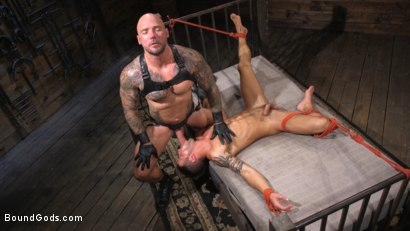 Photo number 13 from Stepdaddy's Dungeon   shot for Bound Gods on Kink.com. Featuring Casey Everett and Jason Collins in hardcore BDSM & Fetish porn.