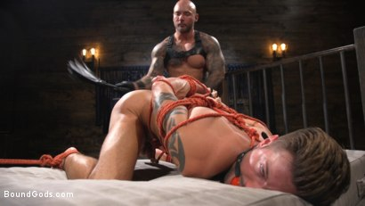 Photo number 16 from Stepdaddy's Dungeon   shot for Bound Gods on Kink.com. Featuring Casey Everett and Jason Collins in hardcore BDSM & Fetish porn.