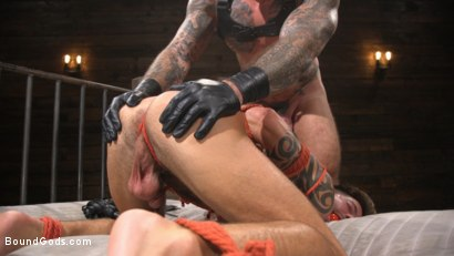 Photo number 17 from Stepdaddy's Dungeon   shot for Bound Gods on Kink.com. Featuring Casey Everett and Jason Collins in hardcore BDSM & Fetish porn.