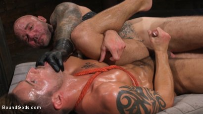 Photo number 26 from Stepdaddy's Dungeon   shot for Bound Gods on Kink.com. Featuring Casey Everett and Jason Collins in hardcore BDSM & Fetish porn.