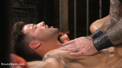 Photo number 4 from Stepdaddy's Dungeon   shot for Bound Gods on Kink.com. Featuring Casey Everett and Jason Collins in hardcore BDSM & Fetish porn.