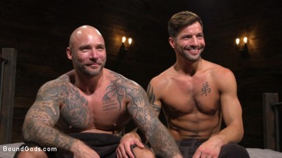 Photo number 34 from Stepdaddy's Dungeon   shot for Bound Gods on Kink.com. Featuring Casey Everett and Jason Collins in hardcore BDSM & Fetish porn.