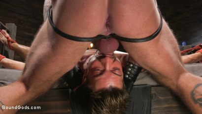 Photo number 14 from Stepdaddy's Dungeon   shot for Bound Gods on Kink.com. Featuring Casey Everett and Jason Collins in hardcore BDSM & Fetish porn.