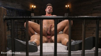 Photo number 21 from Stepdaddy's Dungeon   shot for Bound Gods on Kink.com. Featuring Casey Everett and Jason Collins in hardcore BDSM & Fetish porn.