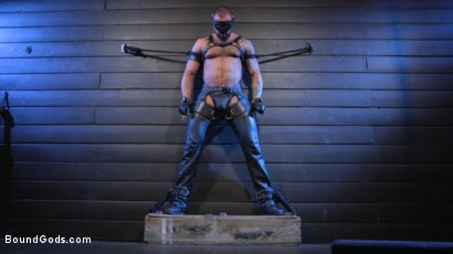 Photo number 2 from Cesar Xes Surrenders to Mr. Roman shot for Bound Gods on Kink.com. Featuring Michael Roman  and Cesar Xes in hardcore BDSM & Fetish porn.