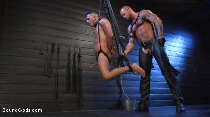 Photo number 12 from Cesar Xes Surrenders to Mr. Roman shot for Bound Gods on Kink.com. Featuring Michael Roman  and Cesar Xes in hardcore BDSM & Fetish porn.