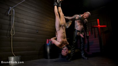 Photo number 20 from Muscular Leather Daddy Smokes Cigars & Brutally Fucks Submissive Boy shot for Bound Gods on Kink.com. Featuring Jack Dixon and Chance Summerlin in hardcore BDSM & Fetish porn.