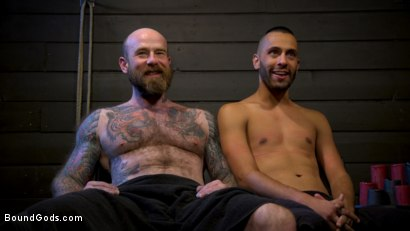 Photo number 29 from Muscular Leather Daddy Smokes Cigars & Brutally Fucks Submissive Boy shot for Bound Gods on Kink.com. Featuring Jack Dixon and Chance Summerlin in hardcore BDSM & Fetish porn.