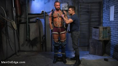 Photo number 2 from Indecent Exposure: Muscle Stud Michael Roman Gets His Hard Cock Milked shot for Men On Edge on Kink.com. Featuring Michael Roman in hardcore BDSM & Fetish porn.