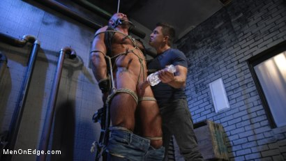 Photo number 11 from Indecent Exposure: Muscle Stud Michael Roman Gets His Hard Cock Milked shot for Men On Edge on Kink.com. Featuring Michael Roman in hardcore BDSM & Fetish porn.