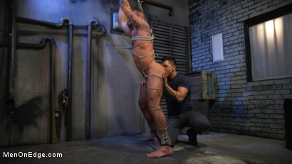 Photo number 12 from Indecent Exposure: Muscle Stud Michael Roman Gets His Hard Cock Milked shot for Men On Edge on Kink.com. Featuring Michael Roman in hardcore BDSM & Fetish porn.