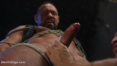 Photo number 5 from Indecent Exposure: Muscle Stud Michael Roman Gets His Hard Cock Milked shot for Men On Edge on Kink.com. Featuring Michael Roman in hardcore BDSM & Fetish porn.
