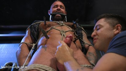 Photo number 9 from Indecent Exposure: Muscle Stud Michael Roman Gets His Hard Cock Milked shot for Men On Edge on Kink.com. Featuring Michael Roman in hardcore BDSM & Fetish porn.