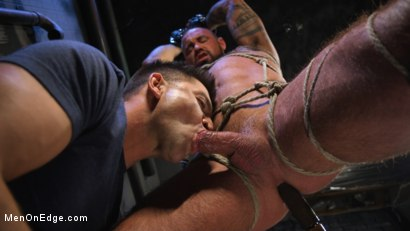 Photo number 15 from Indecent Exposure: Muscle Stud Michael Roman Gets His Hard Cock Milked shot for Men On Edge on Kink.com. Featuring Michael Roman in hardcore BDSM & Fetish porn.