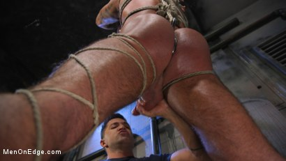 Photo number 17 from Indecent Exposure: Muscle Stud Michael Roman Gets His Hard Cock Milked shot for Men On Edge on Kink.com. Featuring Michael Roman in hardcore BDSM & Fetish porn.