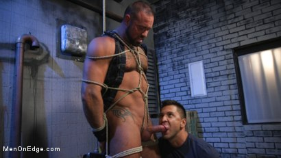 Photo number 6 from Indecent Exposure: Muscle Stud Michael Roman Gets His Hard Cock Milked shot for Men On Edge on Kink.com. Featuring Michael Roman in hardcore BDSM & Fetish porn.