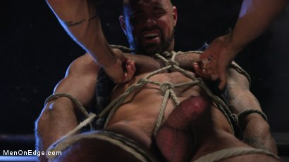 Photo number 8 from Indecent Exposure: Muscle Stud Michael Roman Gets His Hard Cock Milked shot for Men On Edge on Kink.com. Featuring Michael Roman in hardcore BDSM & Fetish porn.