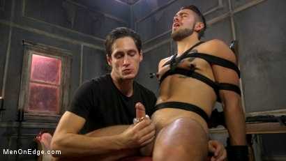 Photo number 6 from Over the Edge: Handsome Stud Dante Colle Unable to Resist Master Keys shot for Men On Edge on Kink.com. Featuring Dante Colle in hardcore BDSM & Fetish porn.
