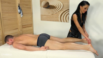 Photo number 1 from In the Mood for a Massage shot for cfnmeu on Kink.com. Featuring Aron Ros and Pidzemellya Hospodynya in hardcore BDSM & Fetish porn.