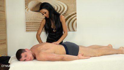 Photo number 2 from In the Mood for a Massage shot for cfnmeu on Kink.com. Featuring Aron Ros and Pidzemellya Hospodynya in hardcore BDSM & Fetish porn.
