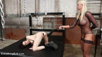 Photo number 22 from Holed Up: London River Anally Trains Her Whiny Protege Anna De Ville shot for Everything Butt on Kink.com. Featuring Anna De Ville and London River in hardcore BDSM & Fetish porn.
