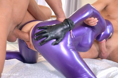 Photo number 8 from Purple Latex Doll shot for Bizarre Video on Kink.com. Featuring Mugur, Juan Lucho and Latex Lucy in hardcore BDSM & Fetish porn.