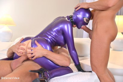 Photo number 9 from Purple Latex Doll shot for Bizarre Video on Kink.com. Featuring Mugur, Juan Lucho and Latex Lucy in hardcore BDSM & Fetish porn.
