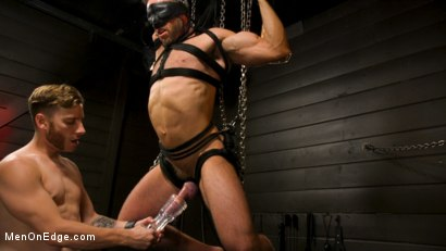 Photo number 11 from KinkMen Presents CONSTRAINED: Athletic Men Bound, Punished, and Edged shot for Men On Edge on Kink.com. Featuring Alex Mecum and Casey Jacks in hardcore BDSM & Fetish porn.