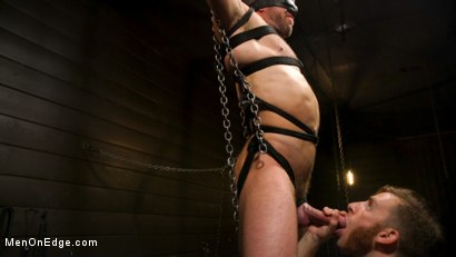Photo number 5 from KinkMen Presents CONSTRAINED: Athletic Men Bound, Punished, and Edged shot for Men On Edge on Kink.com. Featuring Alex Mecum and Casey Jacks in hardcore BDSM & Fetish porn.