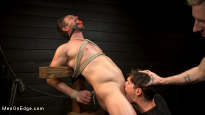 Photo number 15 from KinkMen Presents CONSTRAINED: Athletic Men Bound, Punished, and Edged shot for Men On Edge on Kink.com. Featuring Alex Mecum and Casey Jacks in hardcore BDSM & Fetish porn.