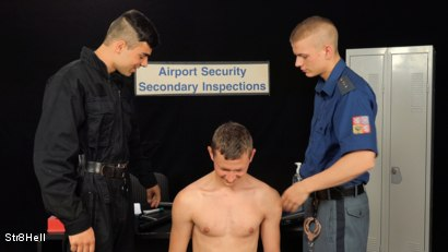 Photo number 3 from Suspected Smuggling shot for Str8Hell on Kink.com. Featuring Borek Sokol, Petr Zuska and Laco Meido in hardcore BDSM & Fetish porn.